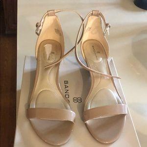 Nude Bandolino Wedge Heel